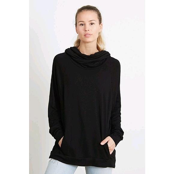 Good hYOUman Dylan Cowl Neck Sweatshirt Black Sm